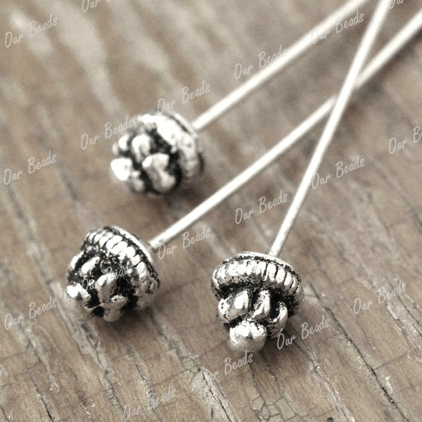 30-Tibetan-Silver-Tibet-Style-Headpin-Head-Pin-Findings-55x5mm-TS2149
