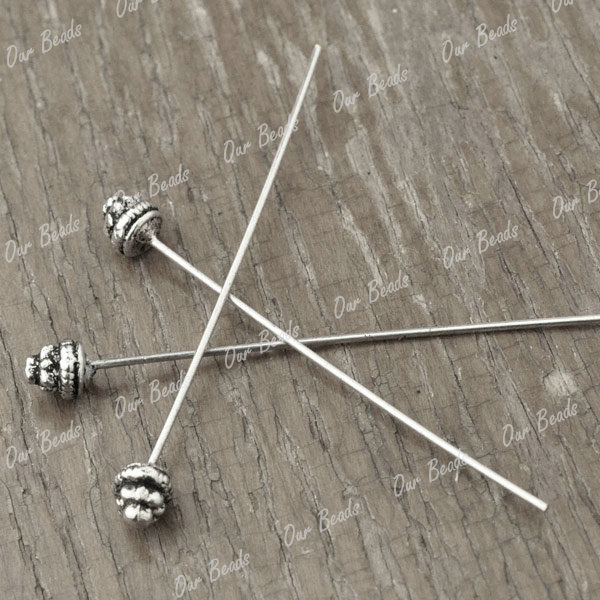 30-Tibetan-Silver-Tibet-Style-Headpin-Head-Pin-Findings-55x5mm-TS2149