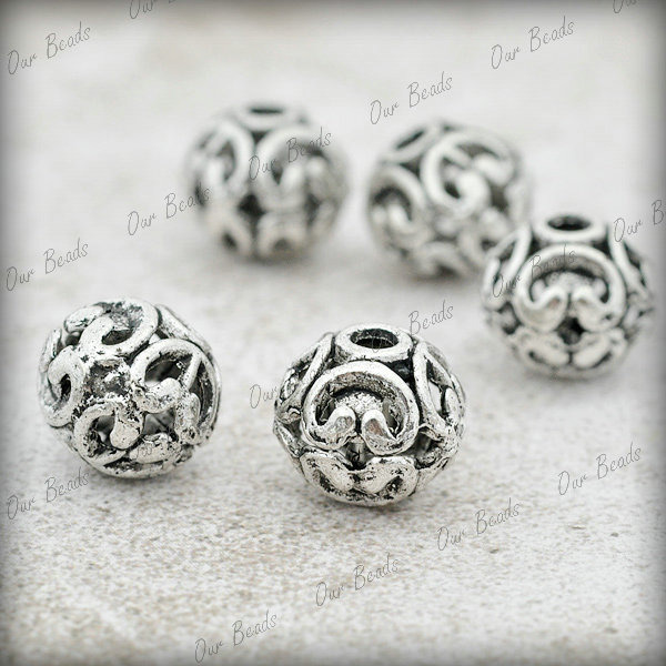 30pcs-Tibet-Style-Tibetan-Silver-Round-Spacers-Bead-Findings-TS2227