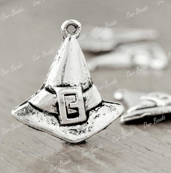 30pcs-Tibet-Style-Tibetan-Silver-Witch-Hat-Charms-Pendants-Drop-Findings-TS2578