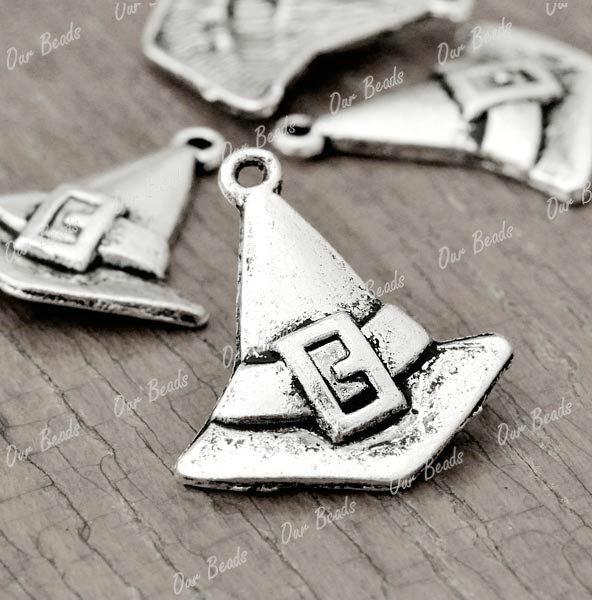 30pcs-Tibet-Style-Tibetan-Silver-Witch-Hat-Charms-Pendants-Drop-Findings-TS2578