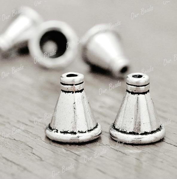 50-Tibetan-Silver-Tibet-Style-Bead-End-Caps-Finding-TS2761