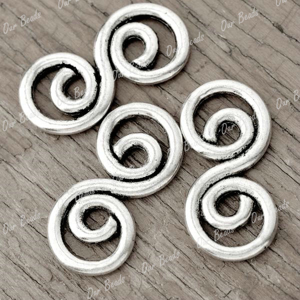 30-Tibet-Style-Tibetan-Silver-Spiral-Connector-Link-Findings-TS3472