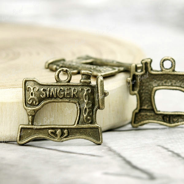 30pcs-Antique-Brass-Sewing-machine-Charms-TS0525-4