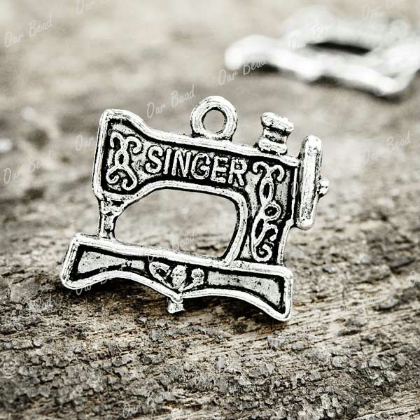 30-Tibetan-Silver-sewing-machine-Charms-Pendants-TS525