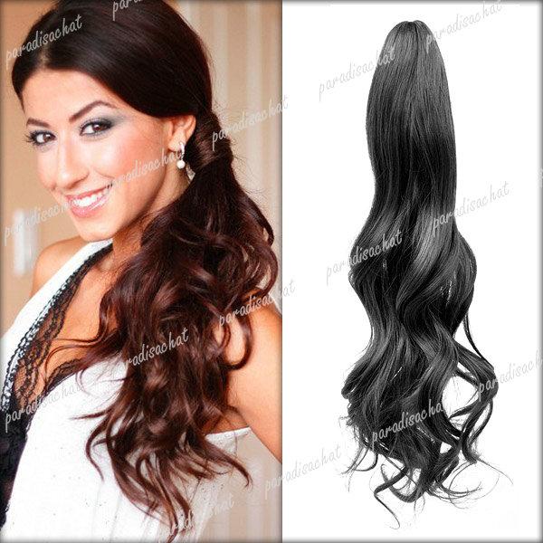 Assez Queue de Cheval Haute Cheveux Longue Extension Femme Perruque Clip  WZ89