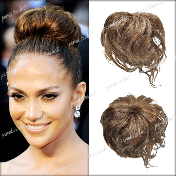 Cheveux Extension Chignon Femme fille Perruque postiche Chouchou Mariage 4 Modes | eBay