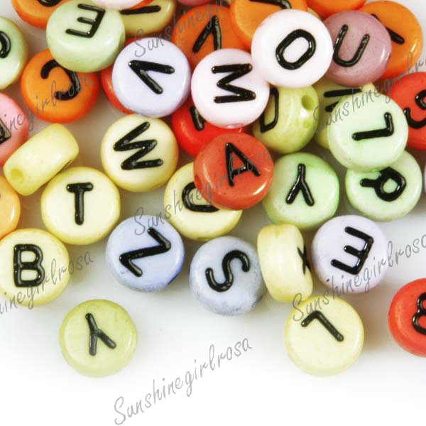 10g Acrylic Mixed Alphabet Spacer Loose Beads Findings 14 Styles Wholesale