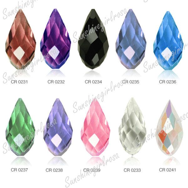 Teardrop Beads: 10pcs Loose Faceted Teardrop Top Crystal Beads Drop