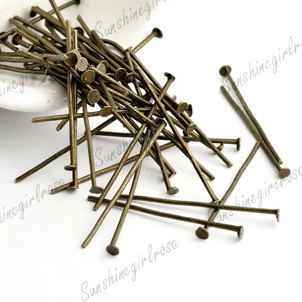 30g-New-Fashion-Wholesale-Iron-Antique-Brass-Head-Pins-26x0-8mm-DO-SS-HP0026