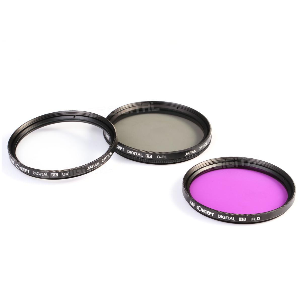 k amp f concept 52mm fld uv cpl polarizing lens filter kit for