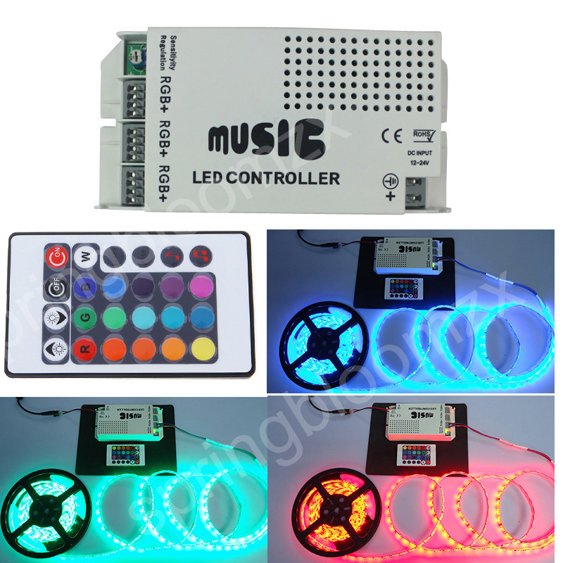 neu musik controller sound aktiv musik steuerung f r rgb led lichterkette b nder ebay. Black Bedroom Furniture Sets. Home Design Ideas