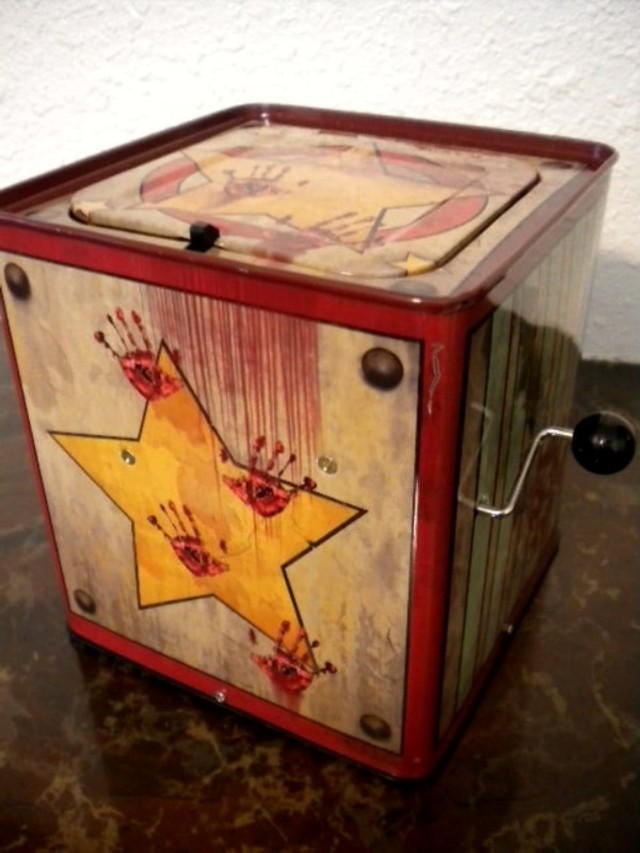 Halloween Jack In The Box Prop.Jack In The Box Haunted House Decor Halloween Jack In The Box