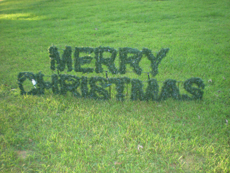 Large Lighted Merry Christmas Sign Outdoor Yard Display Ebay