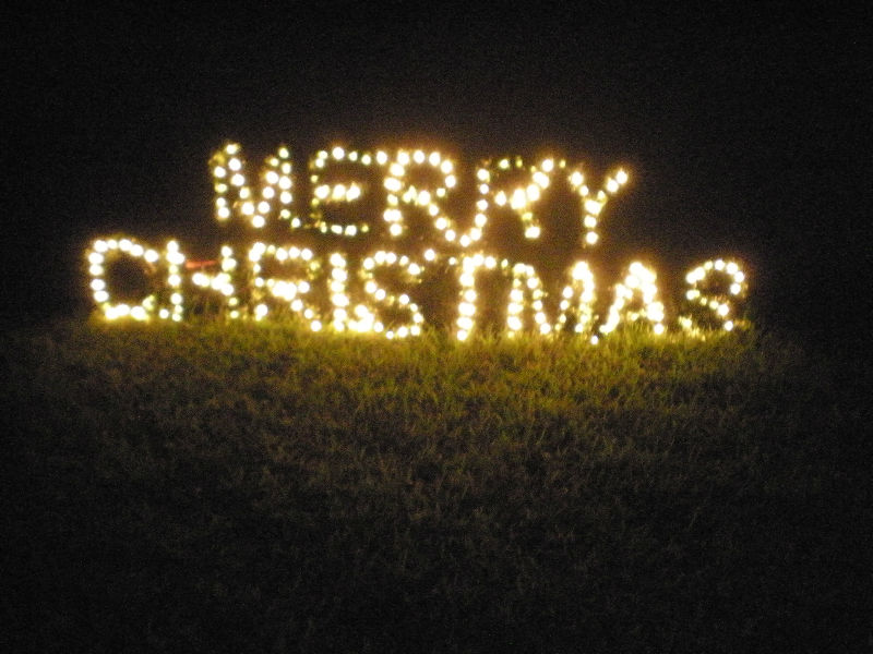 Christmas Lighted Sign.Large Lighted Merry Christmas Sign Outdoor Yard Display On