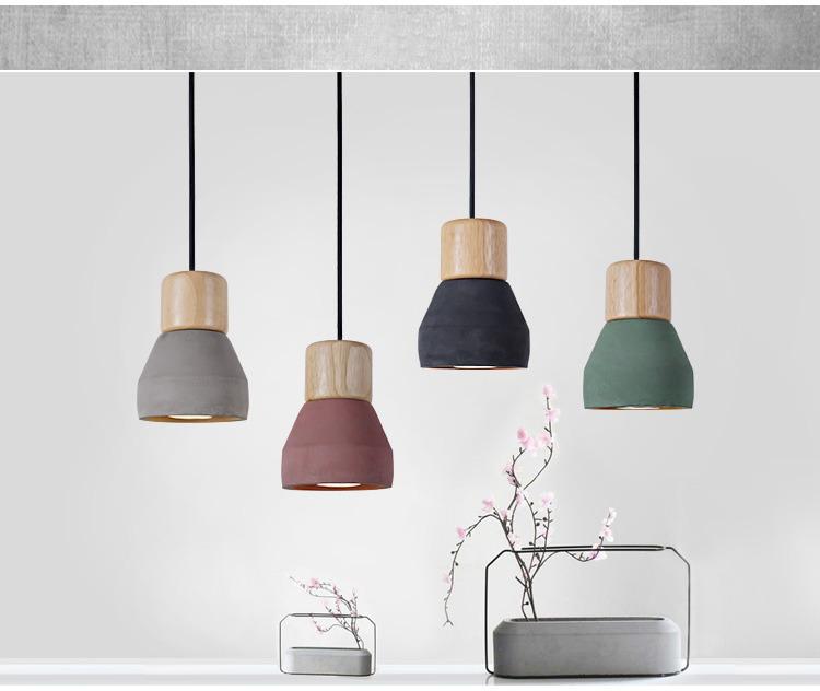 Nuova Industriale Moderne Cemento Lampadari da Cucina Sospensione ...
