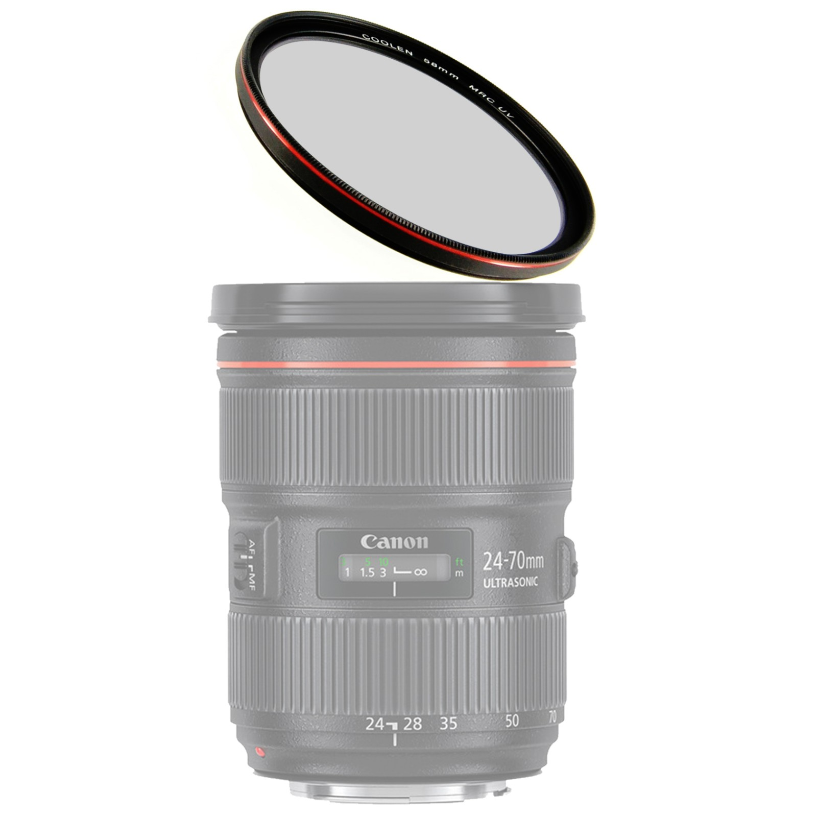 10-30mm,30-110mm,10mm Lenses Coolen 40.5mm MRC Ultra Thin Multi-Coated UV Filter Red Plating Compatible with Nikon 1 AW1,1 J1,1 J2,1 J3,1 J4,1 J5,1 V1,1 V2,1 V3,1 S1,1 S2 Mirrorless Digital Camera