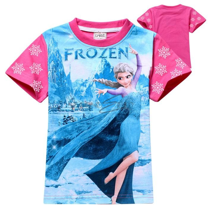 neu frozen prinzessin eisk nigin elsa anna kleid sommer t shirt kost m ebay. Black Bedroom Furniture Sets. Home Design Ideas