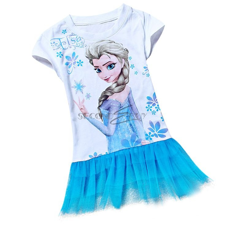 neu frozen eisk nigin elsa tunika kleid sommer top t shirt. Black Bedroom Furniture Sets. Home Design Ideas