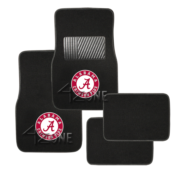 4pc Car Truck Licence Floor Mat Ncaa College Football