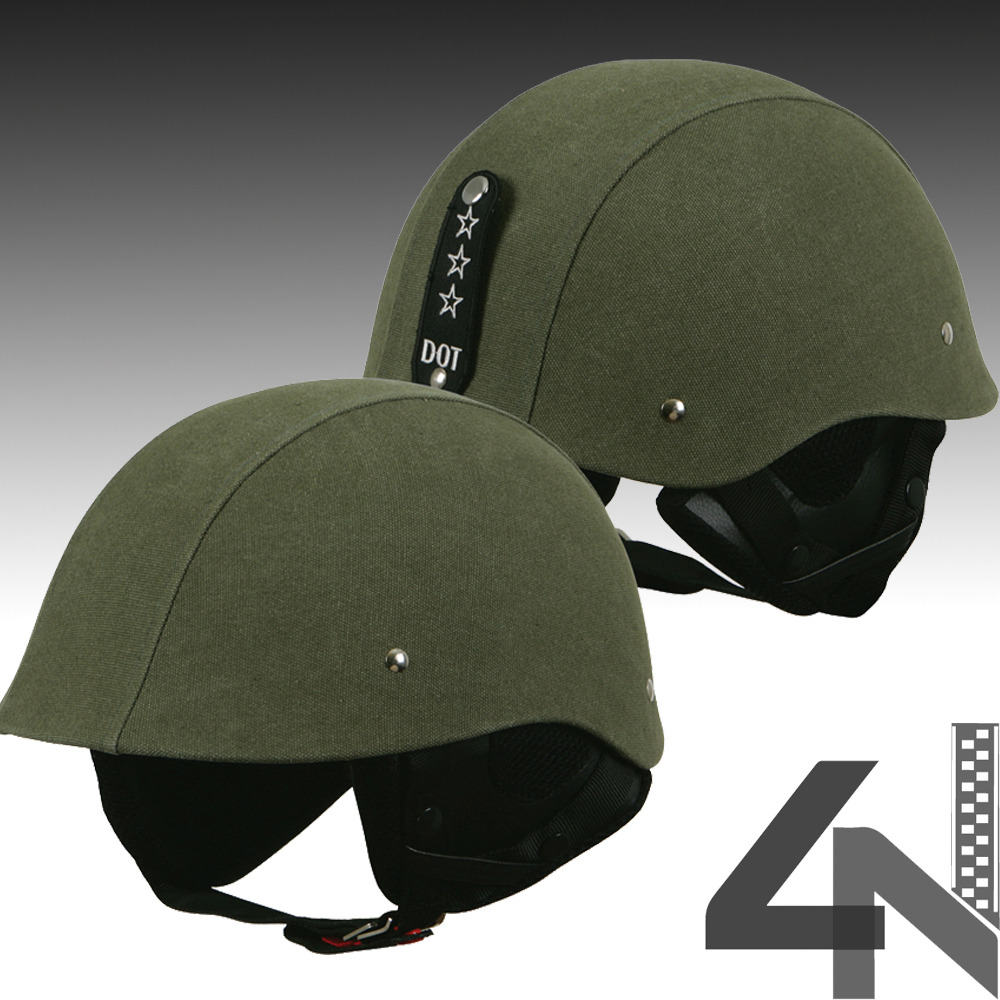 Torc T-54 Camo Army Green Motorcycle Bike Helmet Scooter