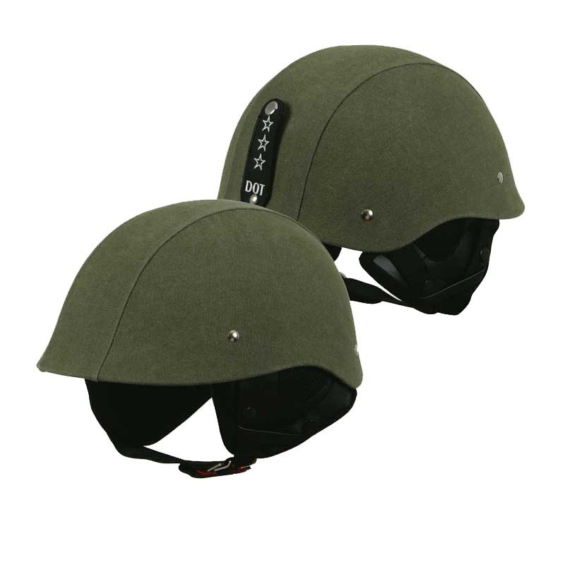 Torc T-54 Camo Army Green Motorcycle Half Helmet Scooter