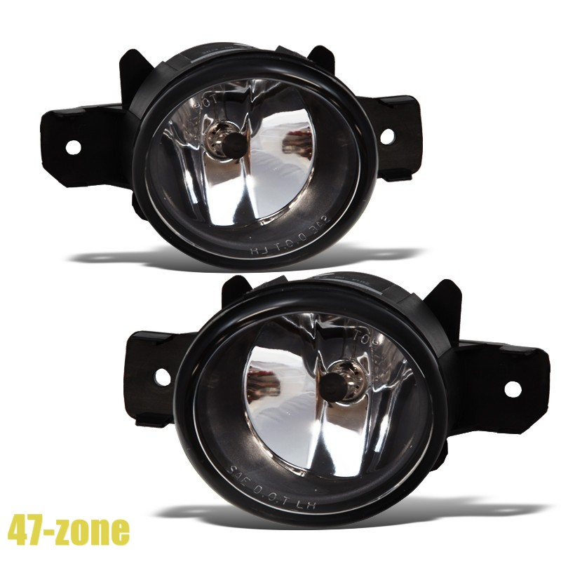 Chrome Housing Clear Lens Replacement Fog Light OE Bumper Lamp for 02-03 Maxima