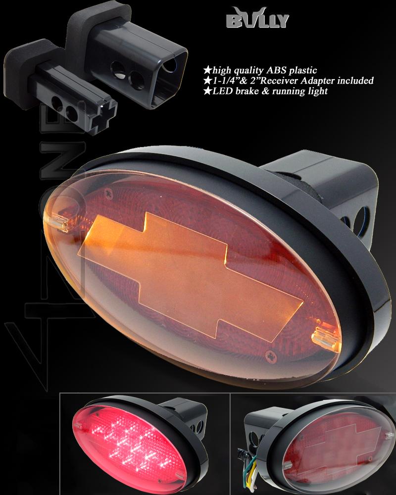 Chevrolet Led Inside on Trailer Hitch Cover Brake Light