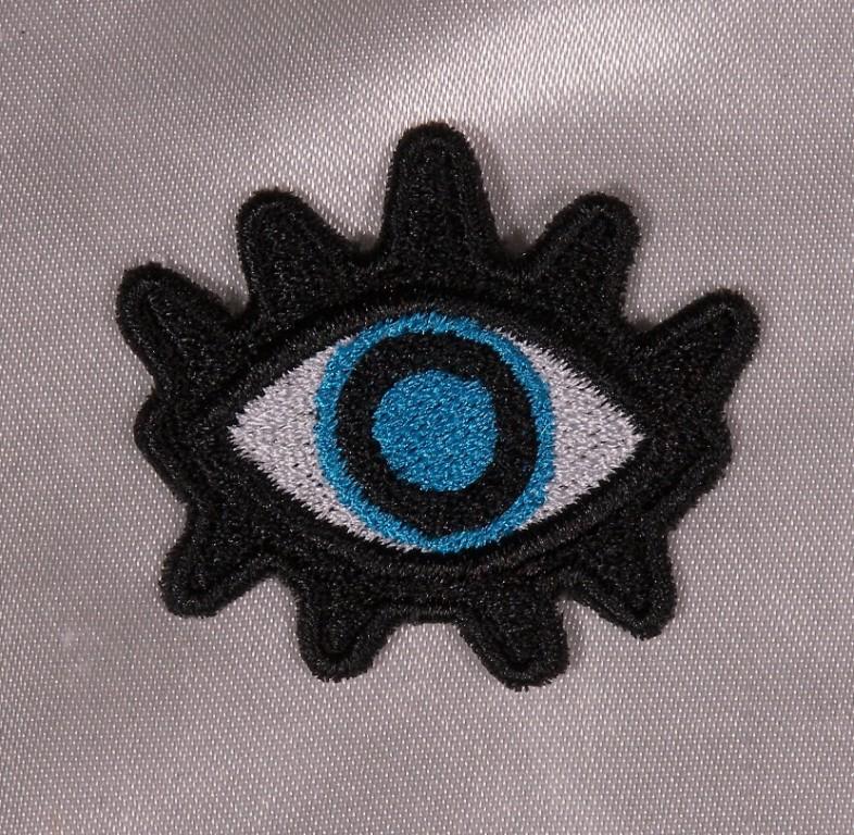 Embroidered Evil Eye Devil Talisman Nazar Blue Eye 2 Patch Iron On