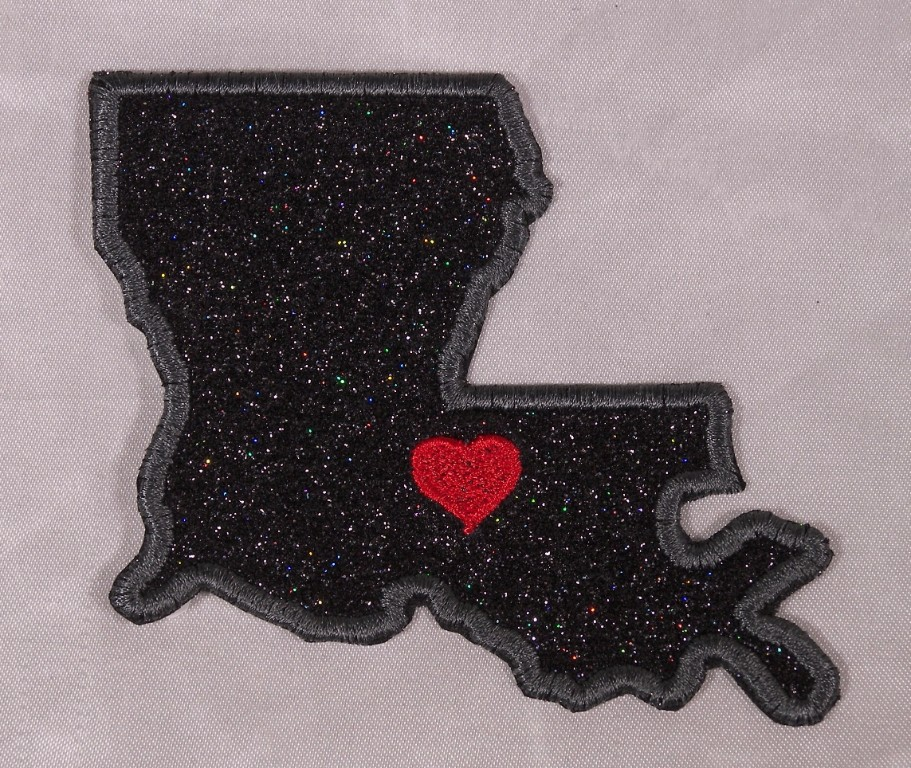 Embroidered Retro Vntg Style I Love New Orleans Louisiana LA State Patch Iron On