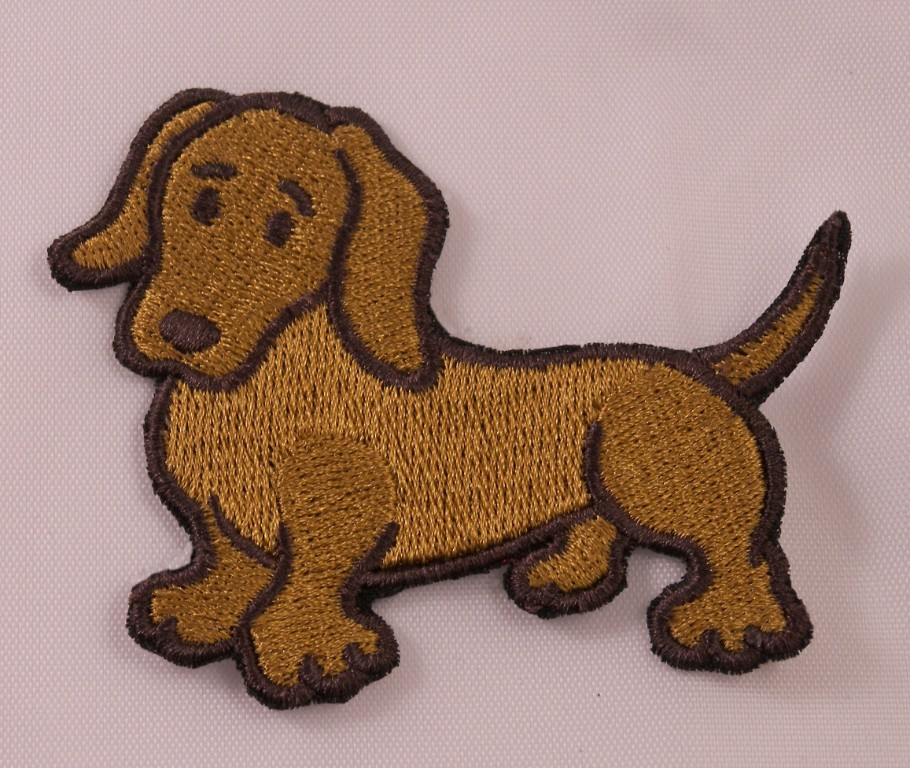 Teckel chien patch Race Brodé Pet Animal Fer Sur Applique Coudre À faire soi-même