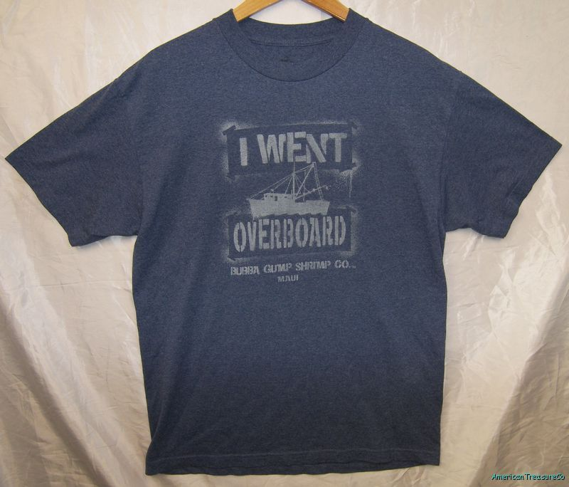 580294340e2 Rare Bubba Gump Shrimp Co Maui Hawaii Soft Blue T Shirt Size L on ...