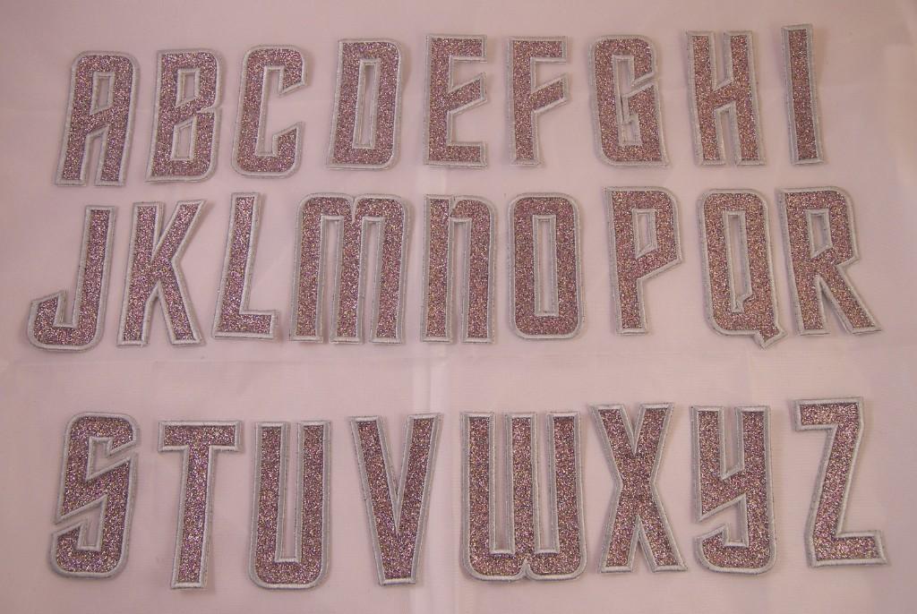 Embroider Glitter Silver Retro Art Deco Monogram Letter G Applique Patch Iron On