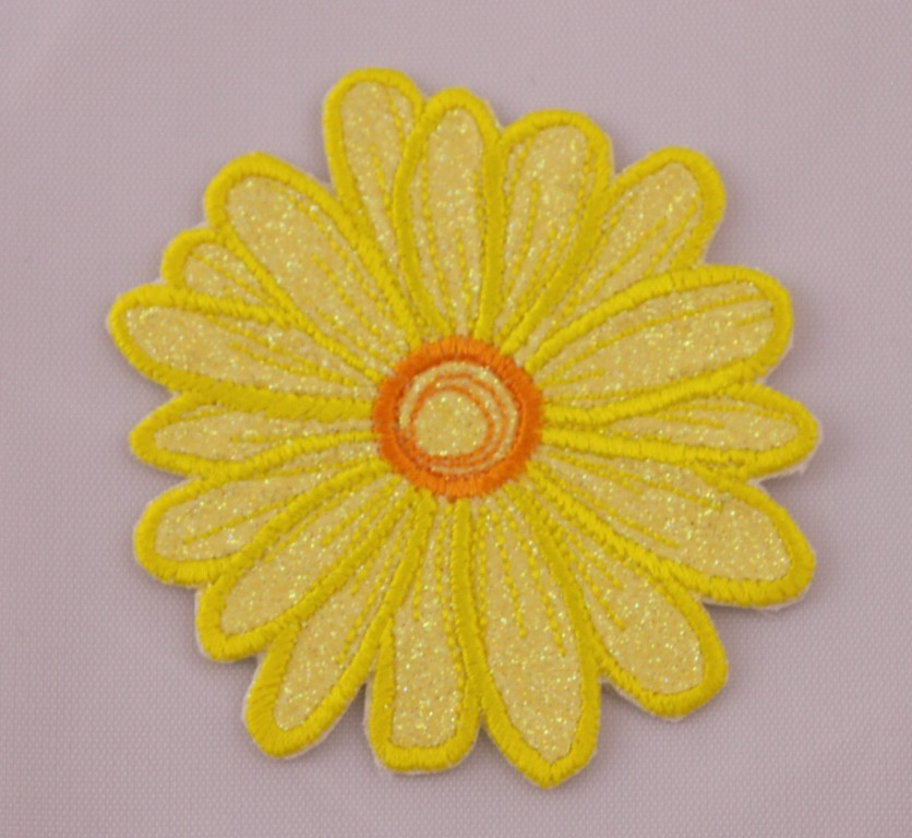 Vintage Yellow Flower Iron On Patch Unused