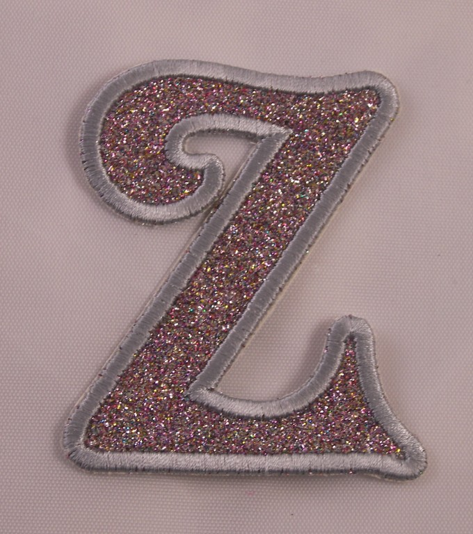 Embroidered Glitter Rainbow Retro Mod Monogram Letter G Applique Patch Iron On