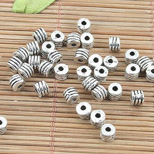 70pcs Tibetan silver flower beads/'caps h3000