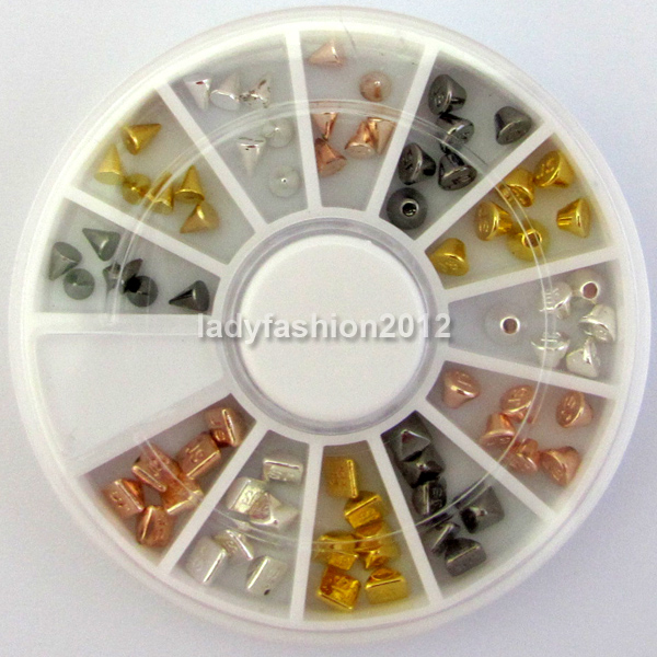 3d Metal Nail Art Decoration Nail Supplies Glitter