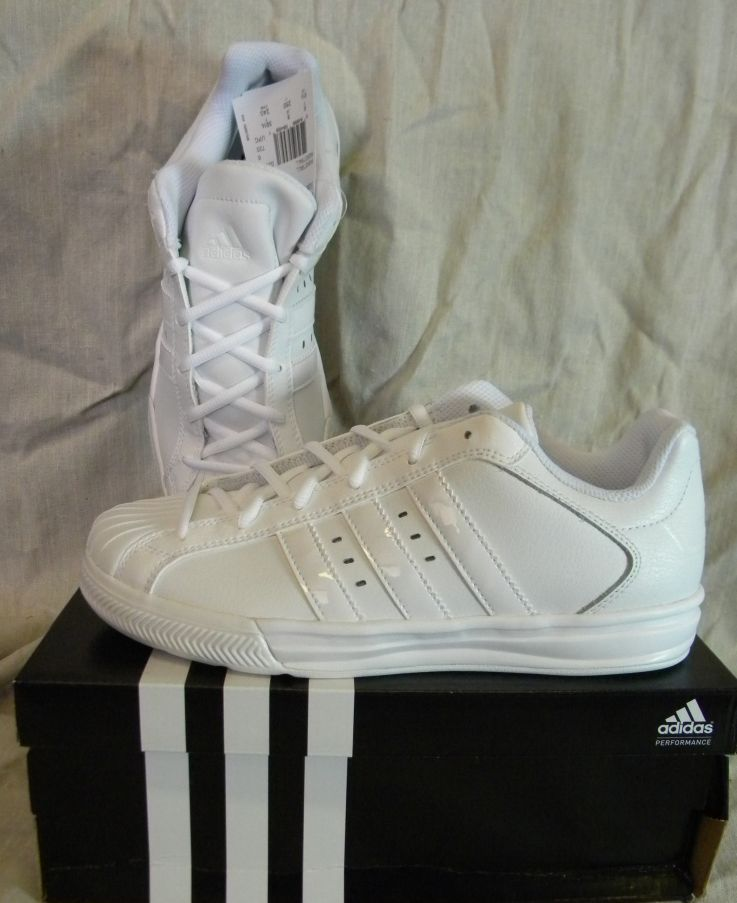 ADIDAS G21095 SUPERSTAR VULCANO K YOUTH BASKETBALL SHOES WHITE