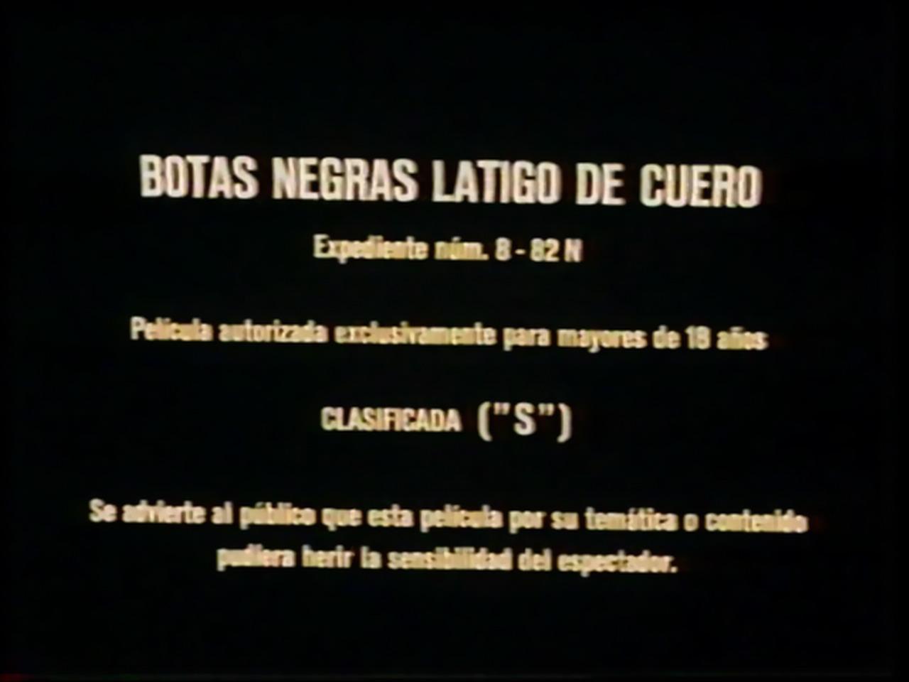 Rare 1983 Jesus Franco Botas Negras Latigo De Cuero On Popscreen