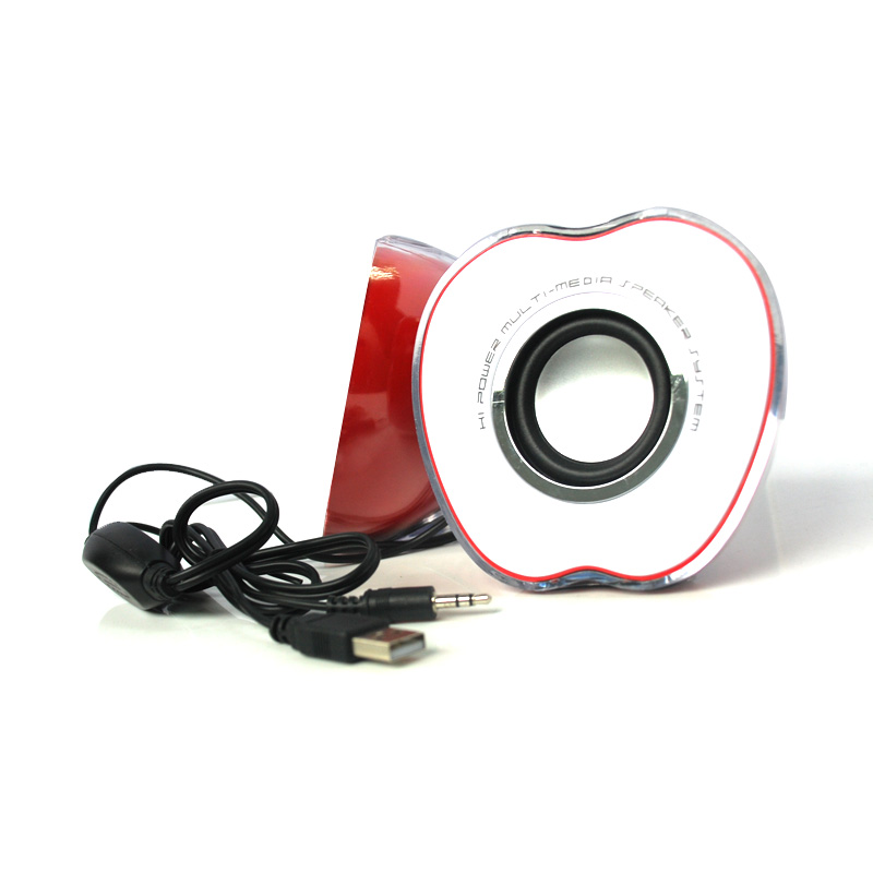 Mini USB LED Portable Speaker Music Player Red for Tablet PC Cellphone Hot Sell