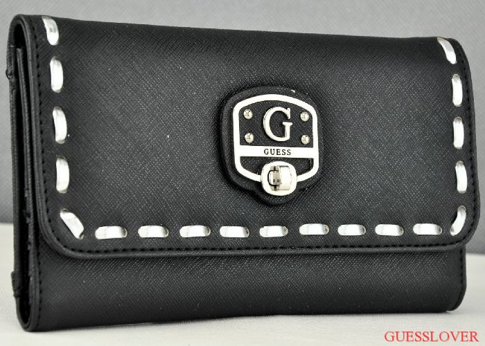Details about NWT SLG Wallet GUESS Garland Black New Ladies