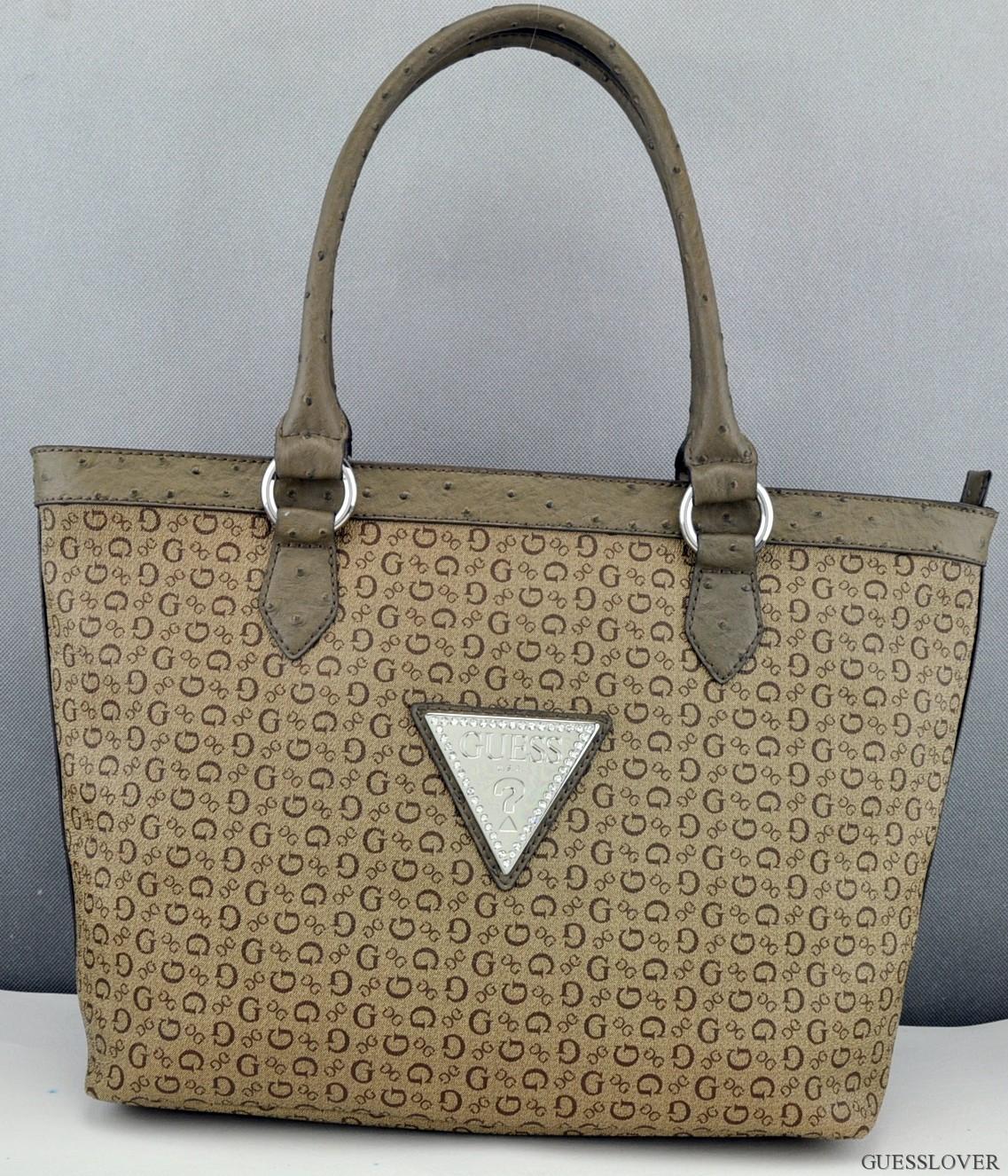 Details about FREE Ship USA! Handbag GUESS Totes Tansy Ladies Mocha Bag Prime