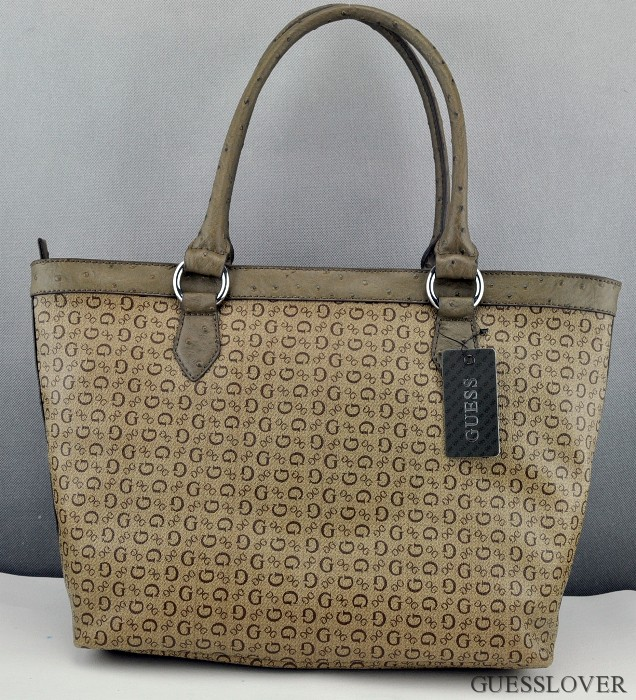 0dbe9d400 Details about New Stylish 100% Original Handbag GUESS Engagement Box Totes  Bag MOCHA Ladies