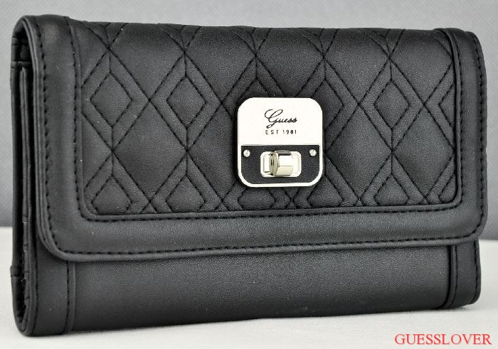 Details about NWT SLG Wallet GUESS Daysha Black New Ladies