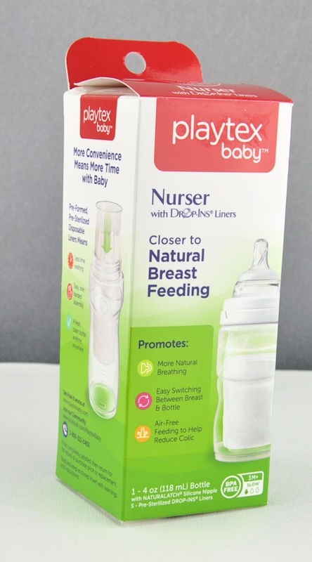 Playtex Premium Nurser With Drop-Ins Liners BPA Free 4 Oz Pack Of 3