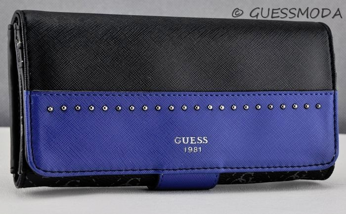 Details about Brand New Rare Collections GuEsS SLG Wallet Ladies HAILEY Indigo Multi