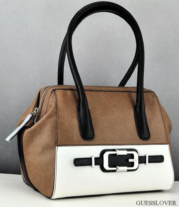Details about NEW Bag Guess Valka Womens Brown Multi Satchel NEUF DEU show original title
