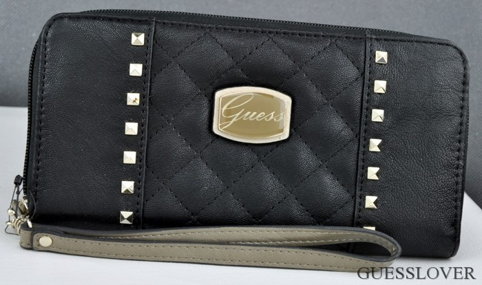 Details about NWT SLG Wallet GUESS Adoro Black Multi New Ladies