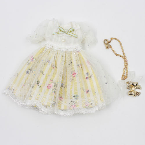 """Takara 12/"""" Blythe Doll outfits-Pink Dress With Lace"""
