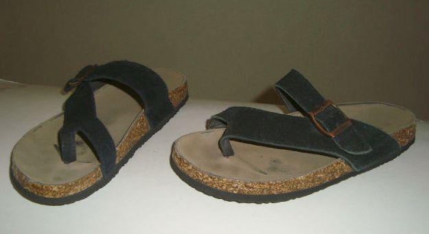 Sandals ECSA Sandals Black With black /& White T Strap Straps NEW SZ 10